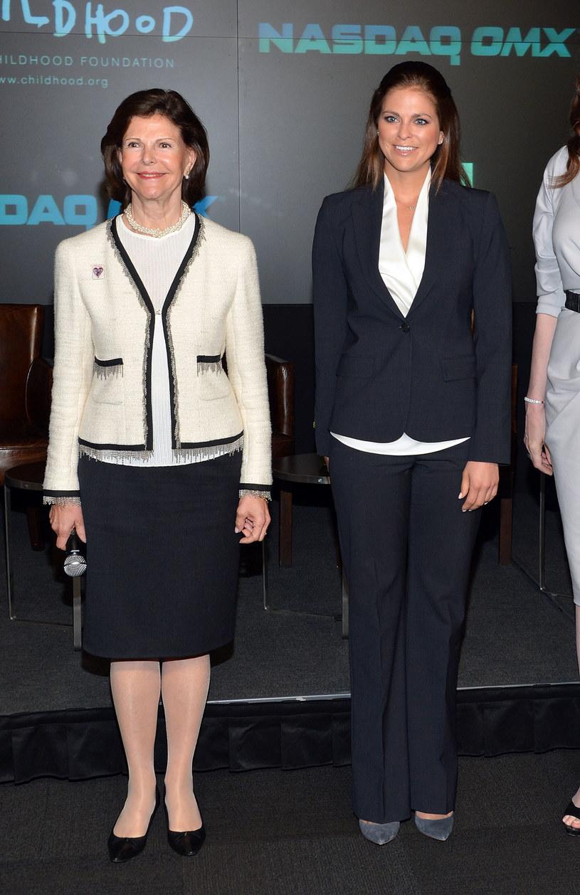 Księżniczka Madeleine i królowa Silvia /Getty Images