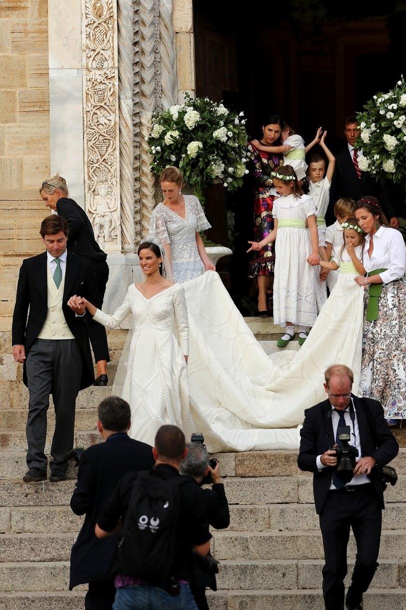 Księżniczka Marie-Astrid wyglądała olśniewająco /IPA /Agencja FORUM
