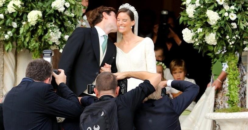 Księżniczka Marie-Astrid z mężem tuż po ślubie /IPA /Agencja FORUM