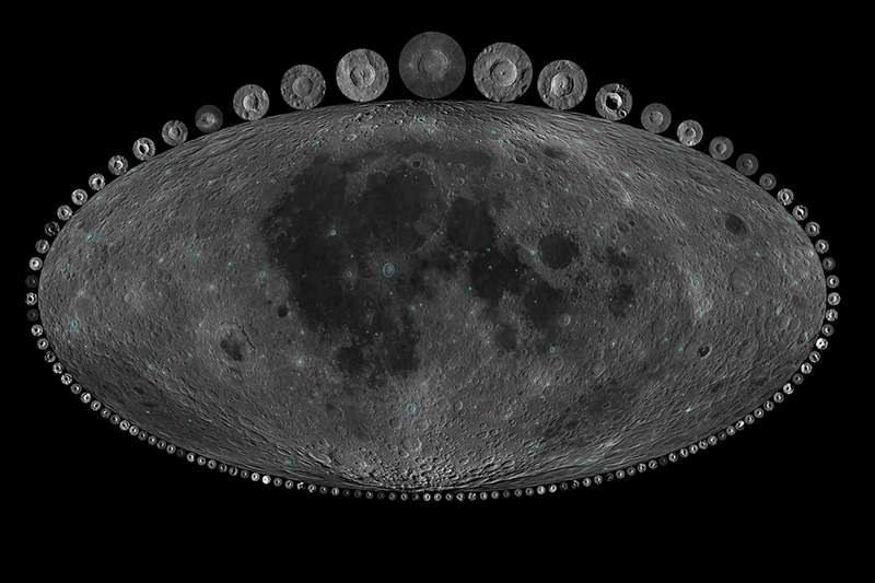 Księżyc i najwieksze z jego najmłodszych kraterów /Dr. A. Parker, Southwest Research Institute /Materiały prasowe