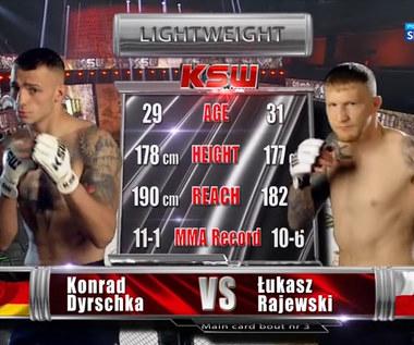 KSW 59. Łukasz Rajewski - Konrad Dyrschka. Skrót walki (POLSAT SPORT). Wideo