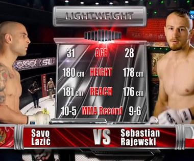 KSW 59. Sebastian Rajewski - Savo Lazić. Skrót walki (POLSAT SPORT). Wideo