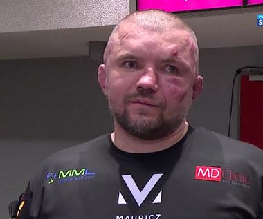 KSW 61. Łukasz Jurkowski zdradził, jakie słowa przekonały go do wyjścia do trzeciej rundy (POLSAT SPORT). Wideo