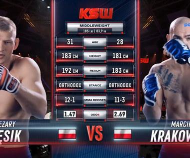 KSW 64. Cezary Kęsik - Marcin Krakowiak. Skrót walki. WIDEO (Polsat Sport)
