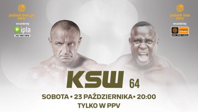 """KSW 64. """"Pudzian"""" - """"Bombardier"""". Relacja na żywo"""