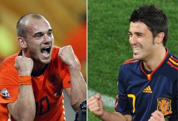 Kto podniesie Puchar Świata - Wesley Sneijder, czy David Villa? /AFP