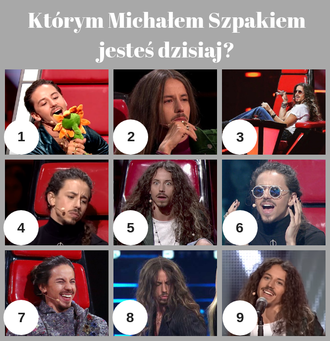 Którym Michałem Szpakiem jesteś dzisiaj? /