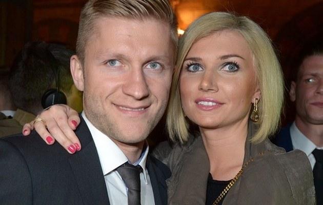 Kuba Błaszczykowski z żoną /- /East News