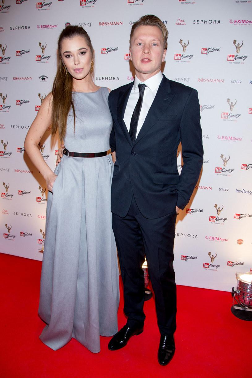 Kuba Wesołowski z żoną /Paweł Żukowski  /East News