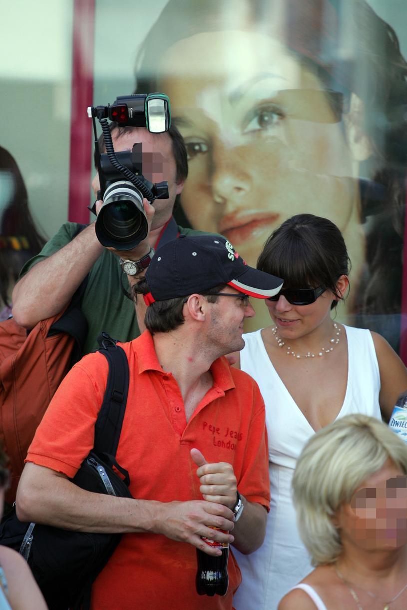 Kuba Wojewódzki, Anna Mucha, 2005 rok /Palicki /AKPA