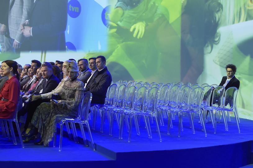 Kuba Wojewódzki samotny na prezentacji ramówki TVN! /Kurnikowski /AKPA