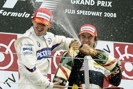 Kubica i Alonso to przyjaciele / Kliknij /AFP