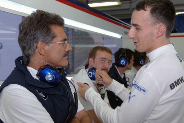Kubica zdaje relacje w kwalifikacji  Mario Theissenowi / kliknij /INTERIA.PL