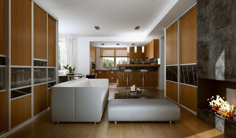 Kuchnia połączona z salonem /materiały prasowe