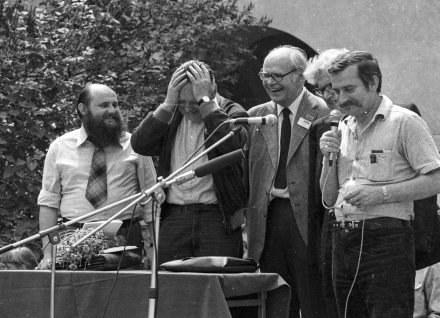 KUL 1981r., uroczystość przyznania Czeslawowi Miloszowi doktoratu Honoris Causa, fot.Jacek Mirosław /Agencja FORUM