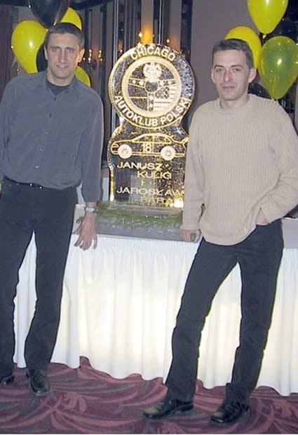 Kulig i Baran w siedzibie polonijnego Autoklubu Chicago / kliknij /INTERIA.PL