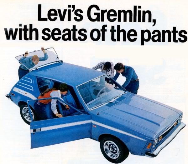 Kultowy już AMC Gremlin w 1973 roku miał tapicerkę od Levi Straussa /materiały prasowe