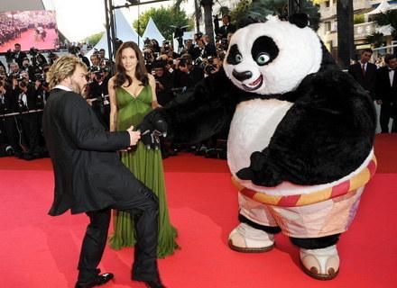 """""""Kung Fu Panda"""" promowali w Cannes Angelina Jolie i Jack Black /AFP"""