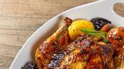 Kurczak nadziewany gruszką w sosie sojowym