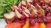 Kurczak pieczony z pomelo, awokado i burakami