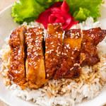 Kurczak w miodzie z ryżem
