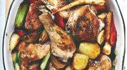 Kurczak z sosem cebulowym i brukselką