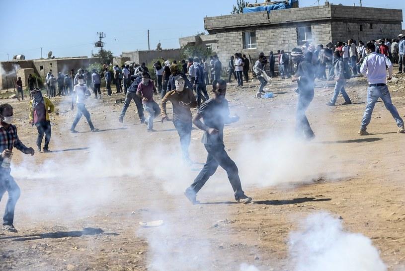 Kurdowie podczas starć z tureckim wojskiem /AFP