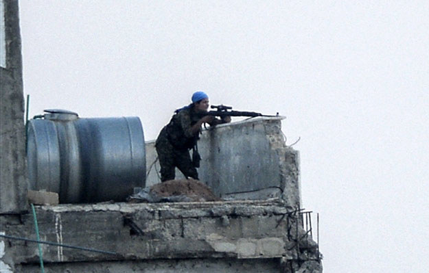 Kurdowie wyzwolili miasto Tall Abjad fot. Bulent Kilic /AFP