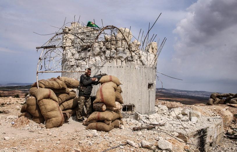 Kurdyjski bojownik, okolice miasta Avaz, w pobliżu syryjsko-tureckiej granicy /Valery Sharifulin/TASS /Agencja FORUM