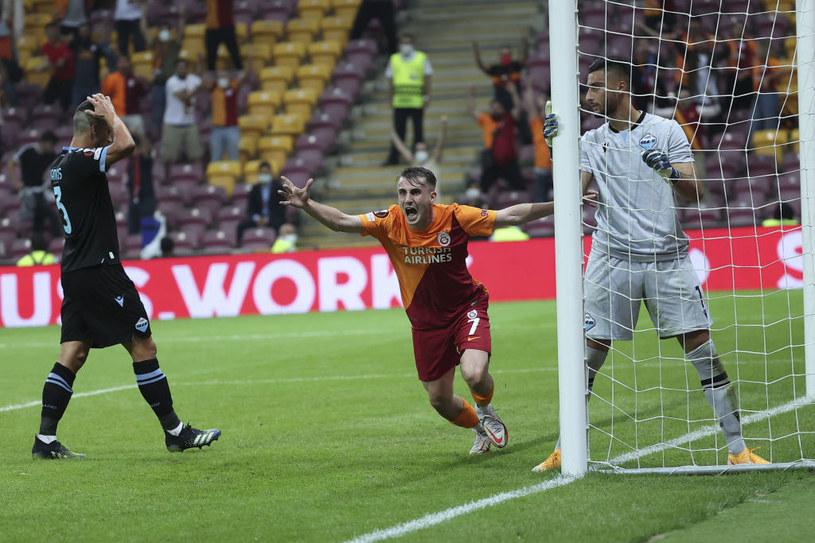 Kuriozalny błąd Strakoshy kosztował Lazio utratę punktów /Arif Hudaverdi Yaman/Anadolu Agency /Getty Images