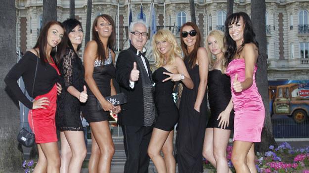 Kurka wodna! Mariusz Pujszo (C) już bryluje w Cannes! /AKPA