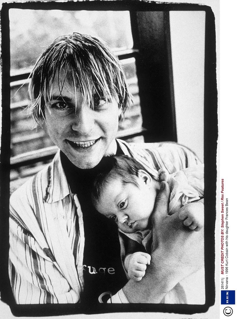Kurt Cobain z małą Frances Bean /Stephen Sweet / Rex Features /East News