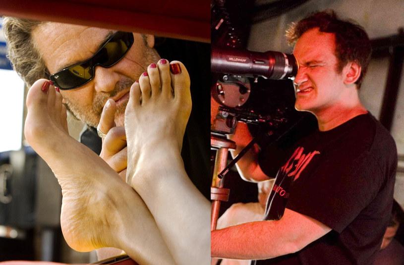 """Kurt Russell (L) i Quentin Tarantino (P) na planie """"Death Proof"""" /materiały dystrybutora"""