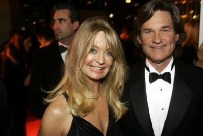 Kurt Russell z żoną, aktorką Goldie Hawn /INTERIA.PL