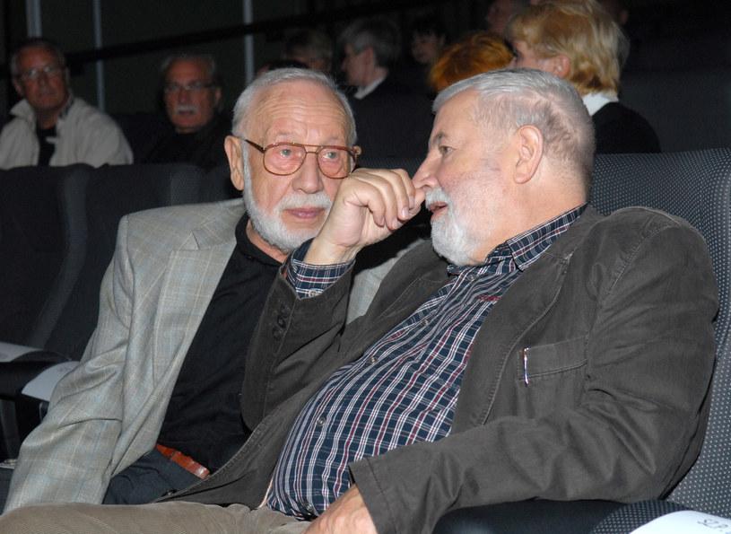 Kurt Weber (z lewej) i Janusz Majewski, Fot: Marek Ulatowski /MWMedia