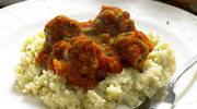 Kuskus z sosem pomidorowym