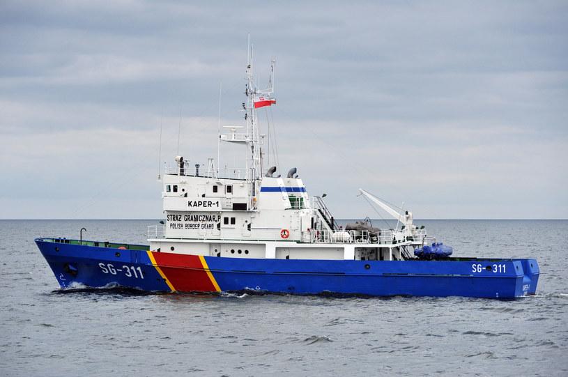 Kuter Straży Granicznej Kaper-1 na wodach Zatoki Gdańskiej /Wojciech Strożyk REPORTER /East News