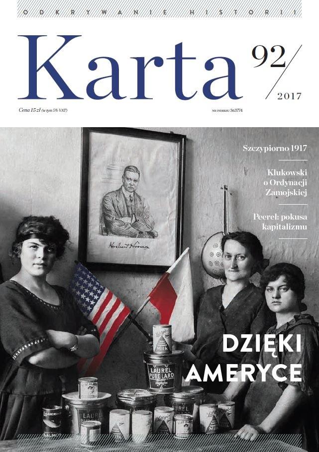 """Kwartalnik """"Karta"""" nr 92/2017 /materiały prasowe"""
