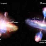 Kwazary zmieniają kolor podczas swojego życia