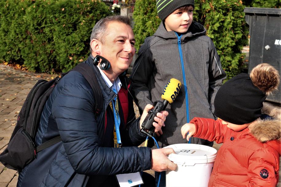 Kwesta w Lublinie i dziennikarz RMF FM Krzysztof Kot /Krzysztof Kot /RMF24