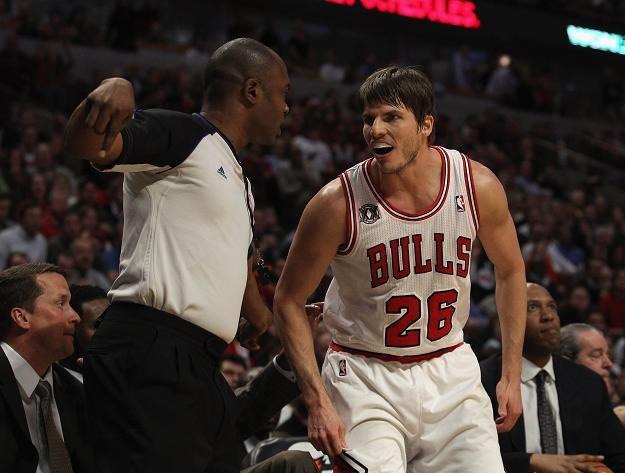 Kyle Korver był najlepszym strzelcem Chicago Bulls w meczu z New Jersey Nets /AFP