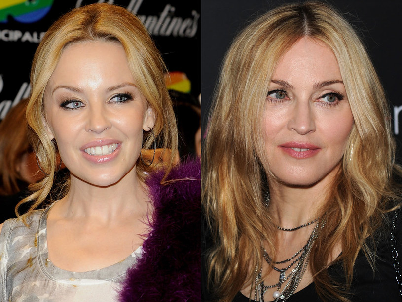 Kylie Minogue i Madonna po kwasie hialuronowym   /Getty Images/Flash Press Media