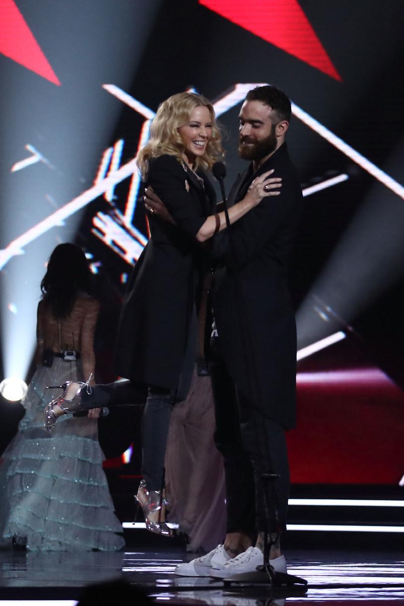 Kylie Minogue z byłym partnerem, Joshuą Sassem /Cameron Spencer /Getty Images
