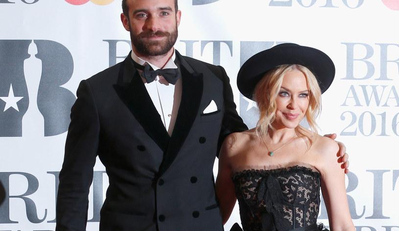Kylie Minogue z narzeczonym /Luca Teuchmann /Getty Images