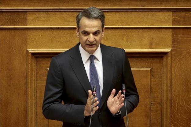 Kyriakos Micotakis, premier Grecji /EPA