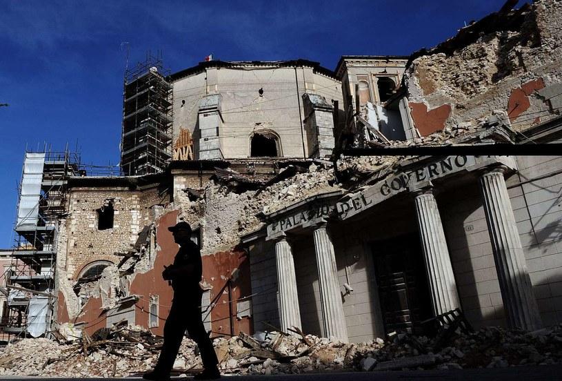 L'Aquila zniszczona po trzęsieniu ziemi, 2009 r. /AFP