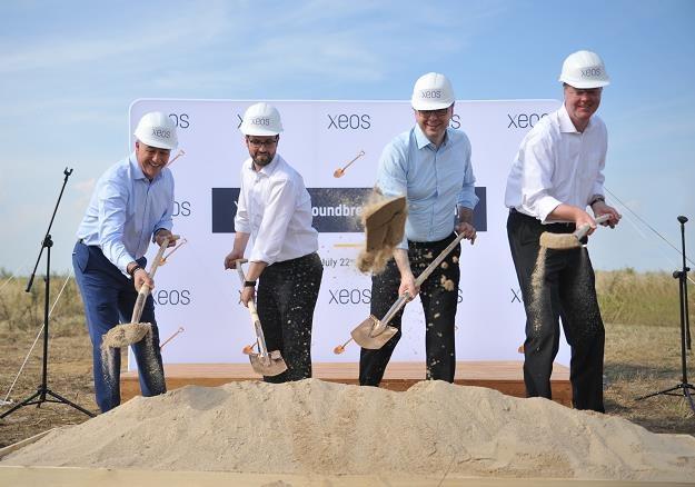 L-P: Mike Ward, Florian Huebener - dyrektorzy dudowy, Stefan Schmuck, Tomas Boettger - zarząd XEOS /Informacja prasowa