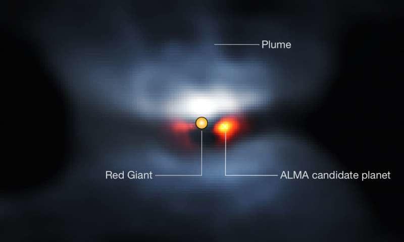 L2 Puppis i okrążająca ją planeta /materiały prasowe
