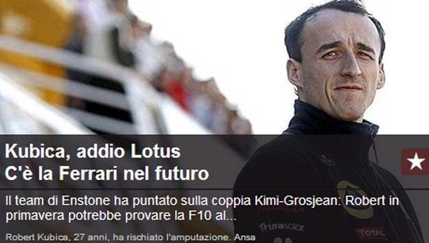 """""""La Gazzetta dello Sport""""  ma bardzo dobre źródła, więc... /"""