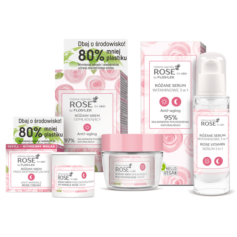 Laboratorium Kosmetyczne Floslek, specjalnie dla kobiet o dojrzałej cerze, przygotowała nową linię kosmetyków Rose for skin różane ogrody /materiały prasowe